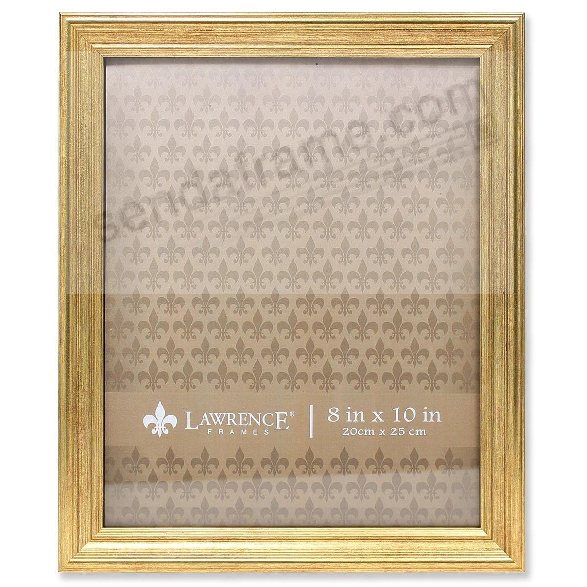 SUTTER Burnished Gold composite-wood 8x10 frame by Lawrence®