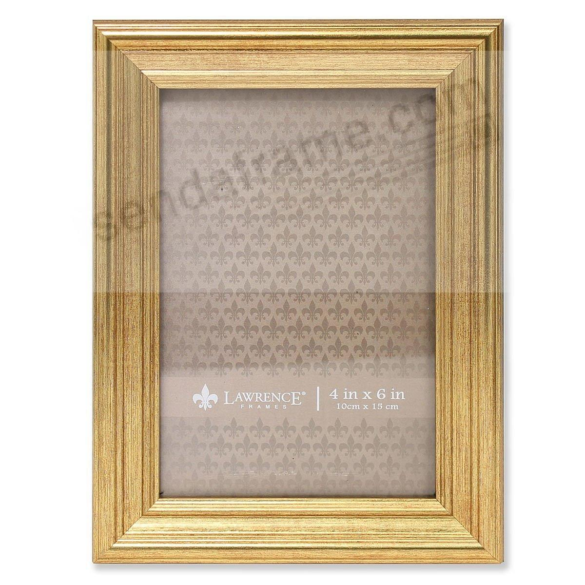 SUTTER Burnished Gold composite wood 4x6 frame by Lawrence®