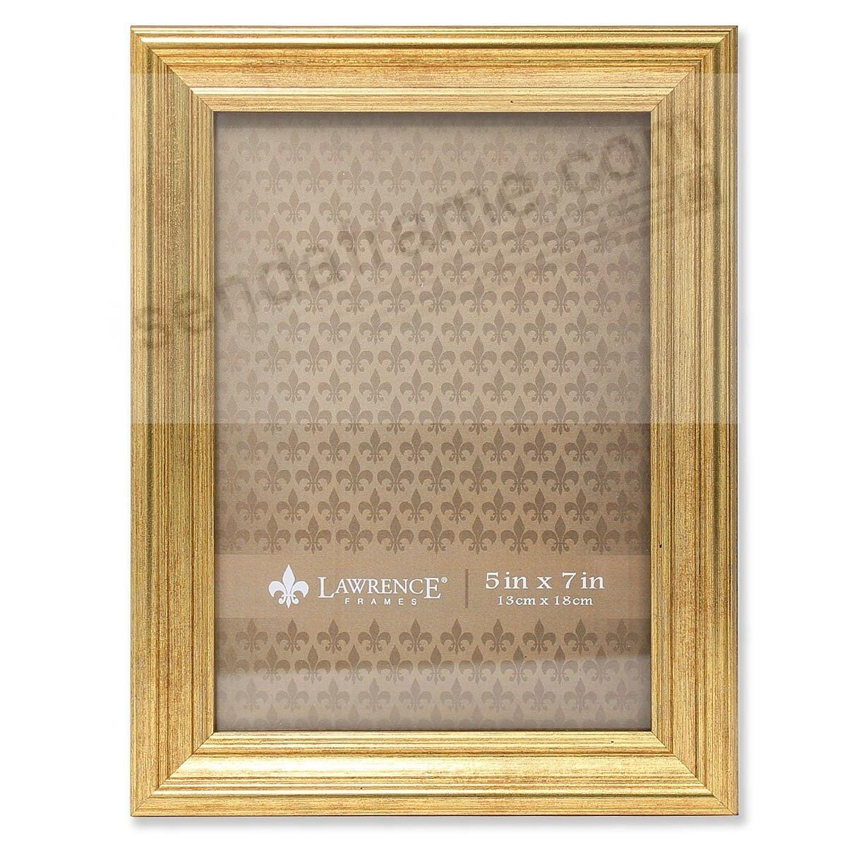 SUTTER Burnished Gold composite wood 5x7 frame by Lawrence®