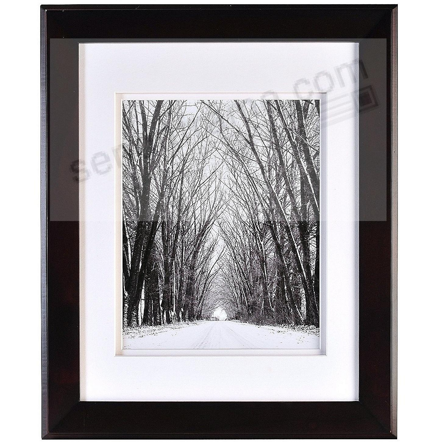 CHELSEA Black Wood 1x14/8x10 Dbl-Matted Frame from ARTCARE® by Nielsen®