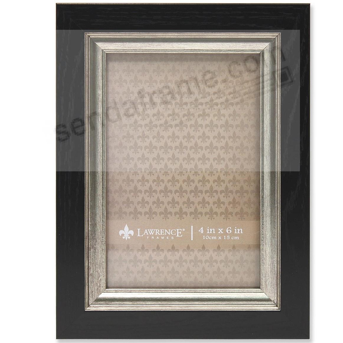 Black w/Burnished Silver trim composite-wood two-tone frame by Lawrence Frames®