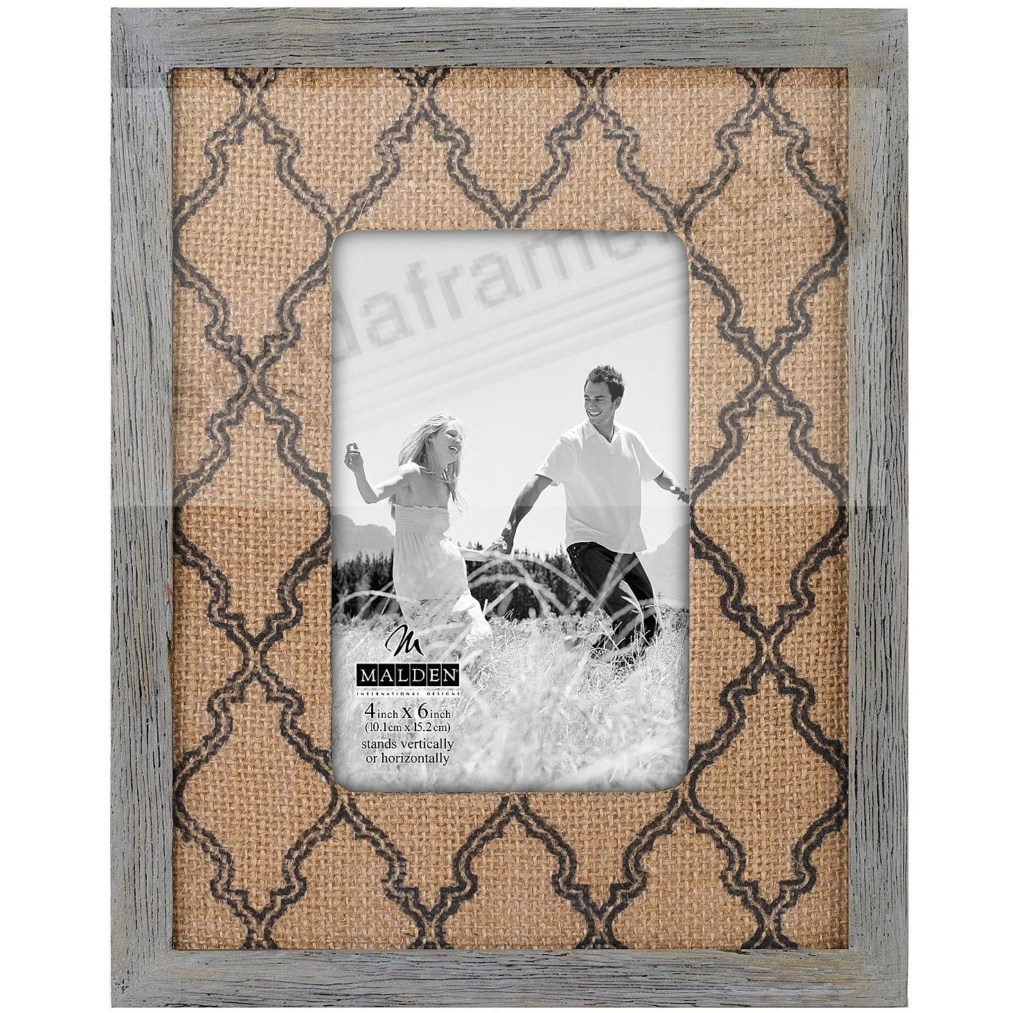 BURLAP MAT Charcoal 4x6 frame by Malden®
