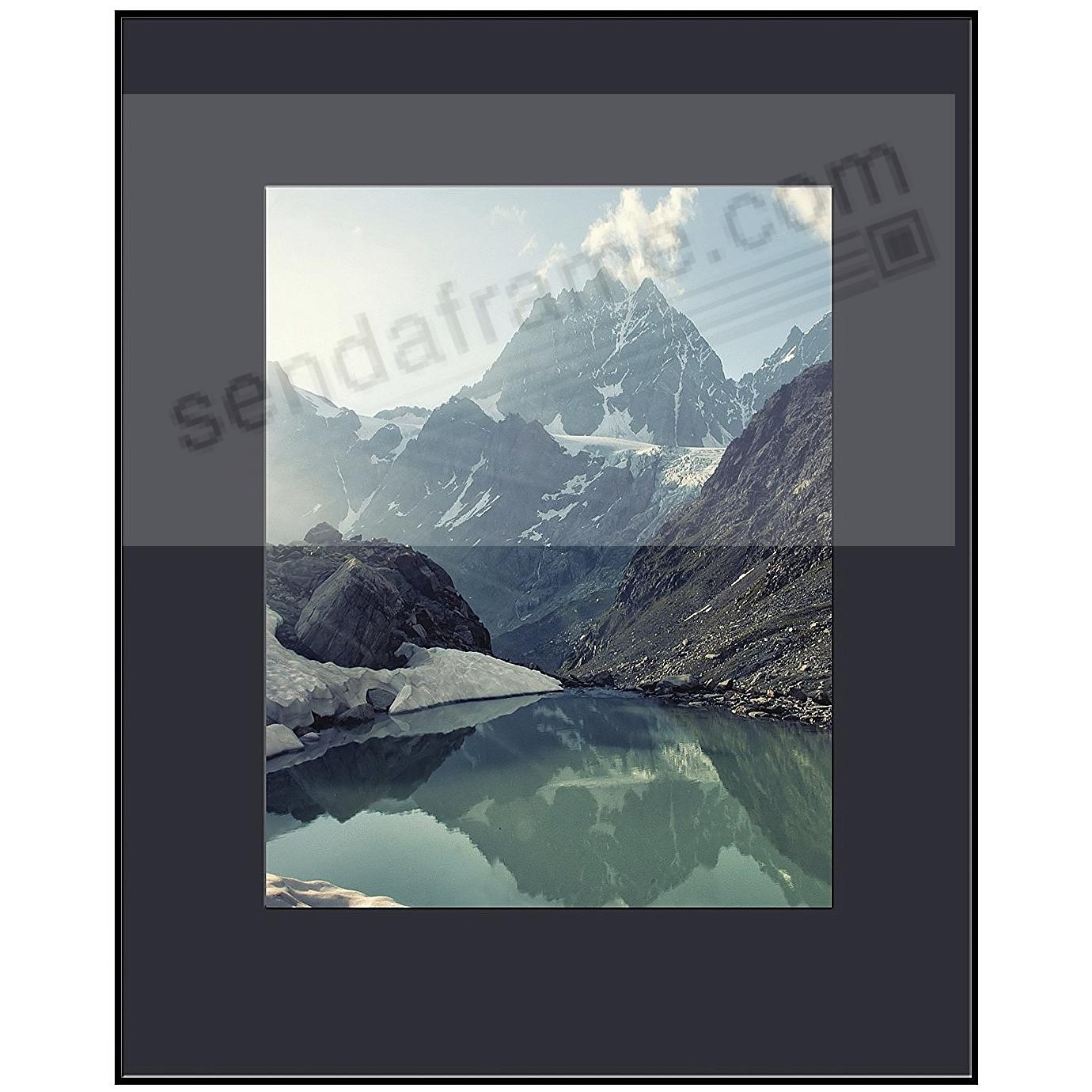 PHOTOGRAPHY Metallic frame MATTE-BLACK/Black Matted 16x20/11x14 by ARTCARE®