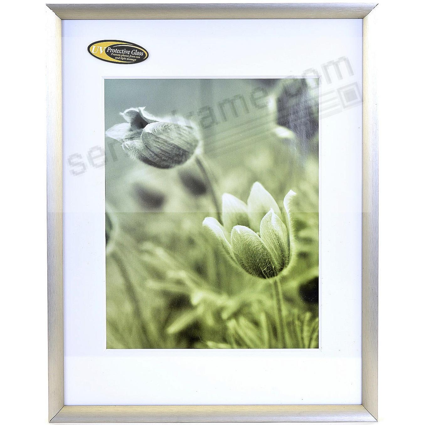 Satin German Silver COSMOPOLITAN matted metallic frame 11x14/8x10 from ARTCARE® by Nielsen®