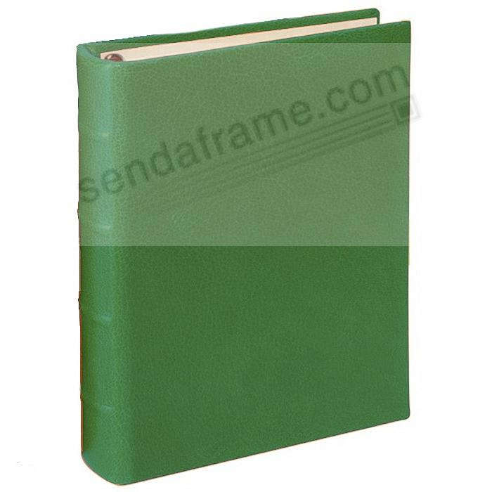 BRIGHTS GREEN 1-Up Clear Pocket Fine-Leather 3-ring Album<br>by Graphic Image&trade;