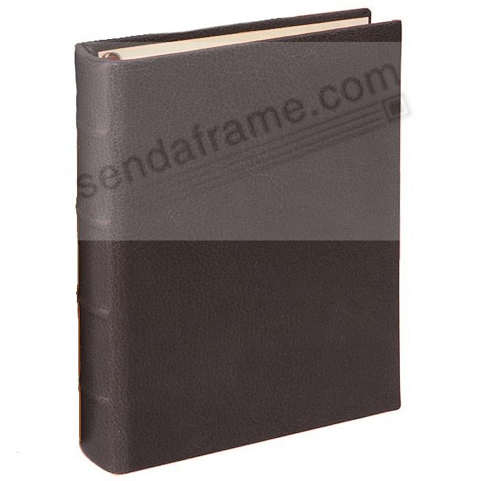 BRIGHTS MOCHA 1-Up Clear Pocket Fine-Leather 3-ring Album<br>by Graphic Image&trade;