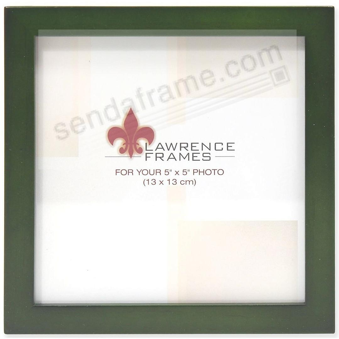 SQUARE CORNER Green Stain classic 5x5 frame by Lawrence Frames®