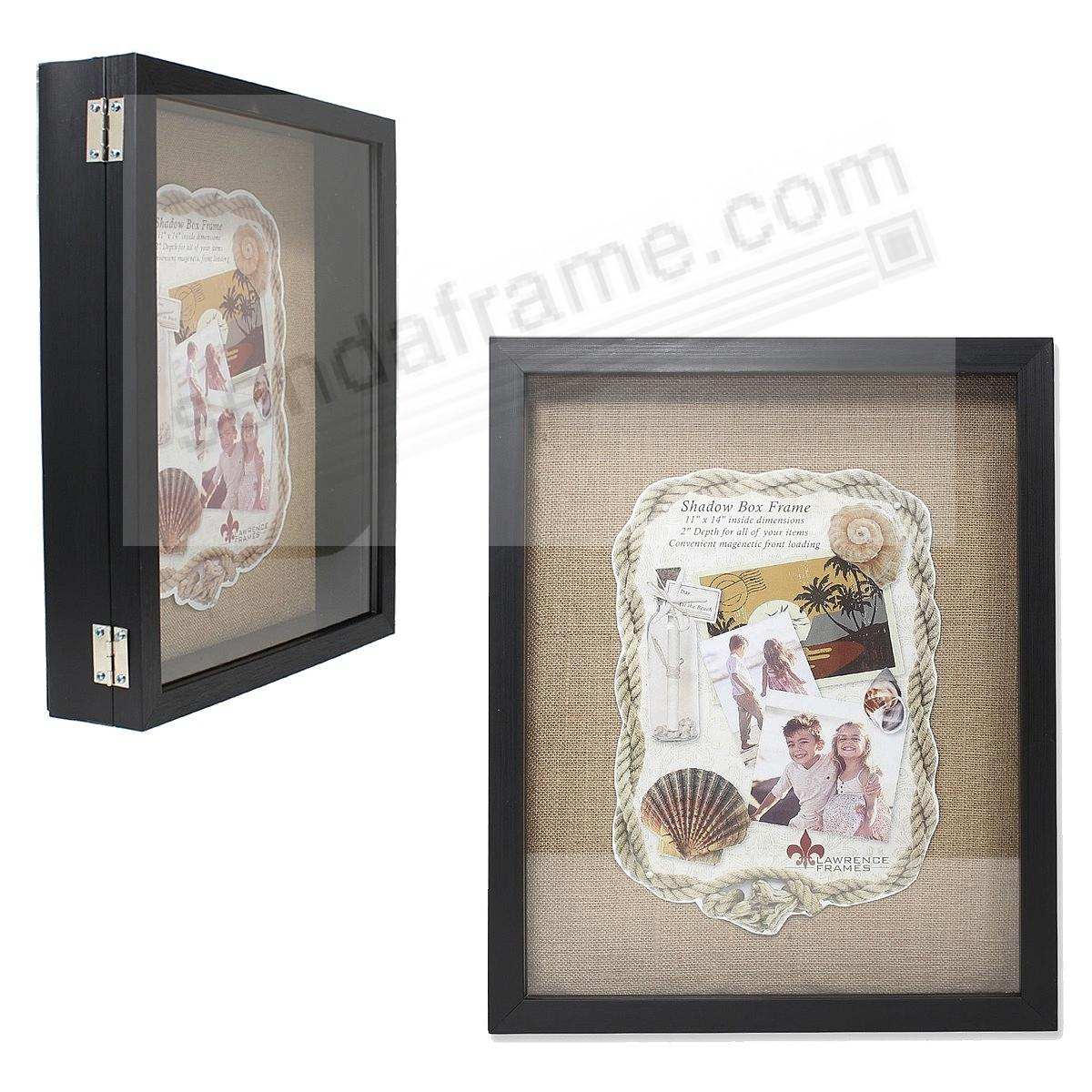 Black 2-in Depth Shadowbox w/magnetic lock front-opening 11x14 by Lawrence®