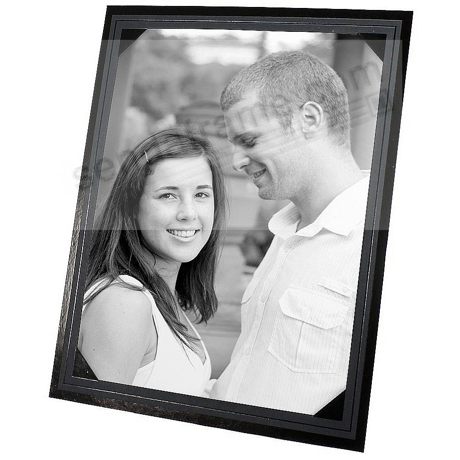 Smooth Finish Corner Mount Black Easel 5x7 frame (sold in 25s)