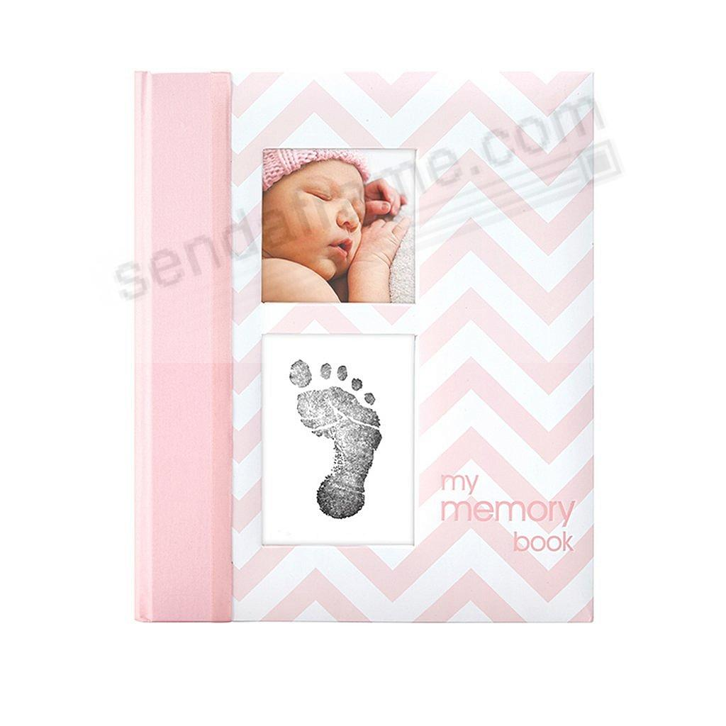 BabyBook PINK CHEVRON MEMORY BOOK by Babyprints®