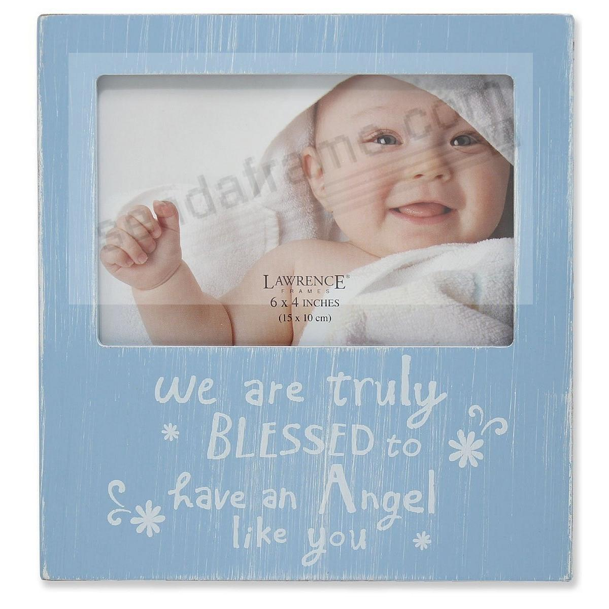 WE ARE TRULY BLESSED... Baby Blue 6x4 frame by Lawrence®