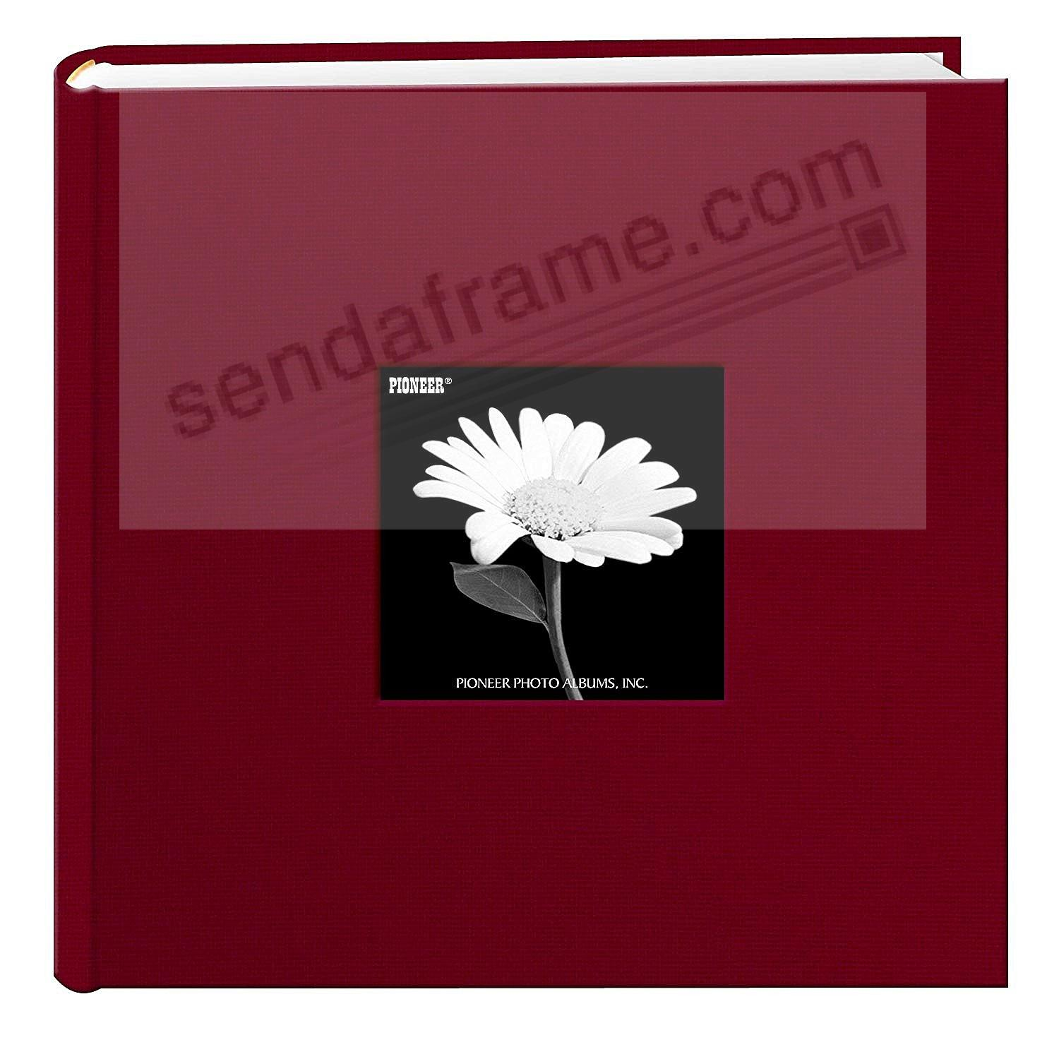 CHAMPION-BURGUNDY Cloth 2-up frame cover photo album by Pioneer®