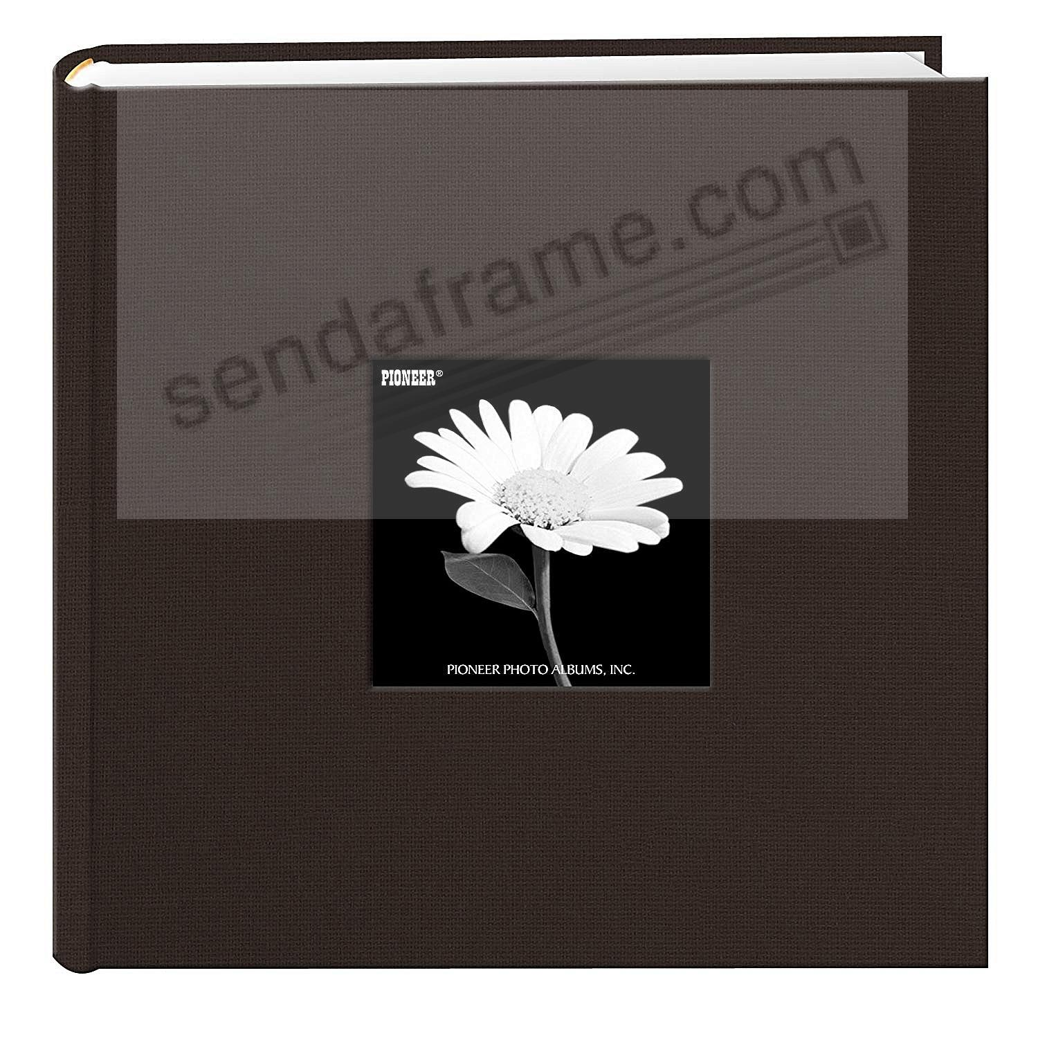 CHOCOLATE-BROWN Cloth 2-up frame cover photo album by Pioneer®