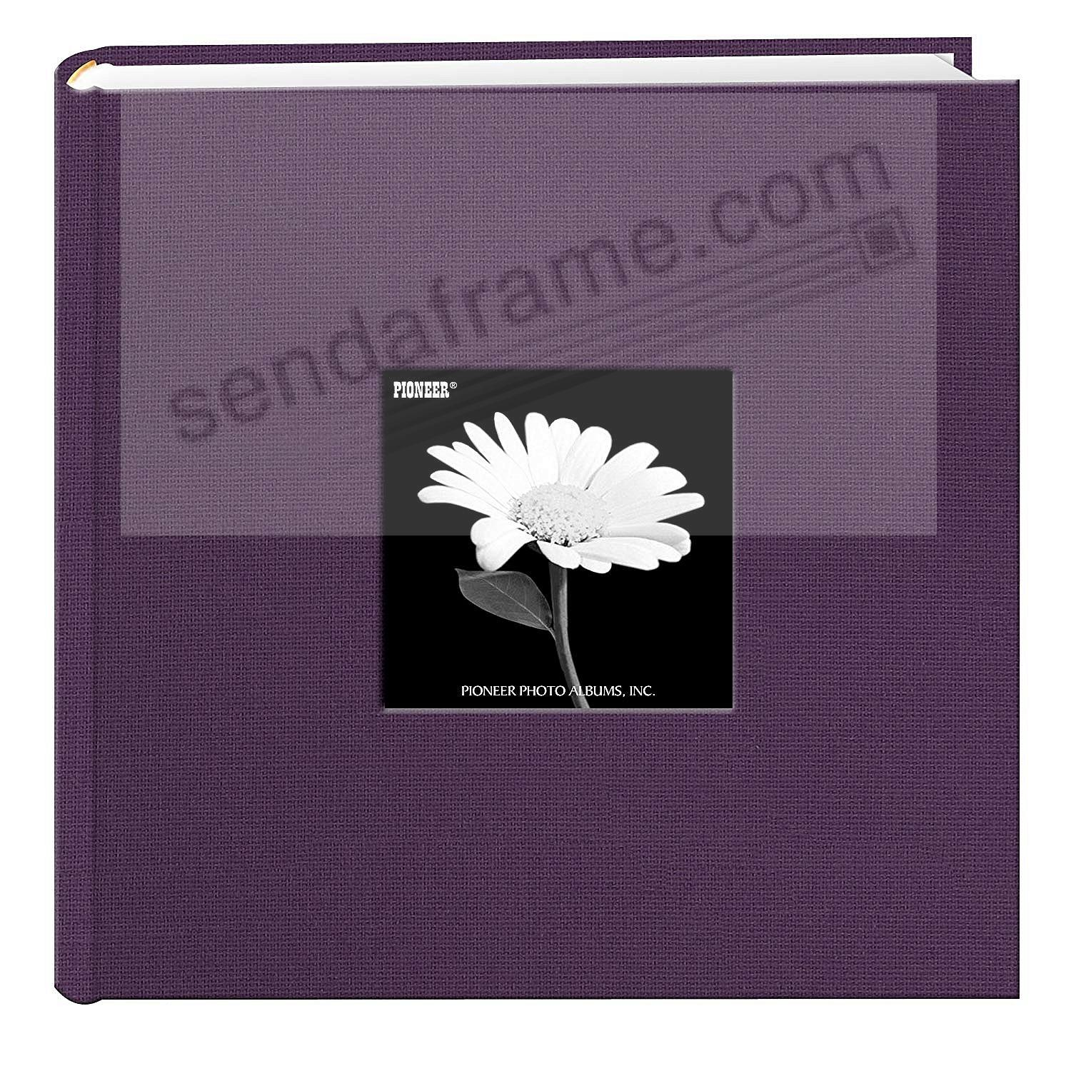 WILDBERRY PURPLE cloth 2-up frame photo album by Pioneer®