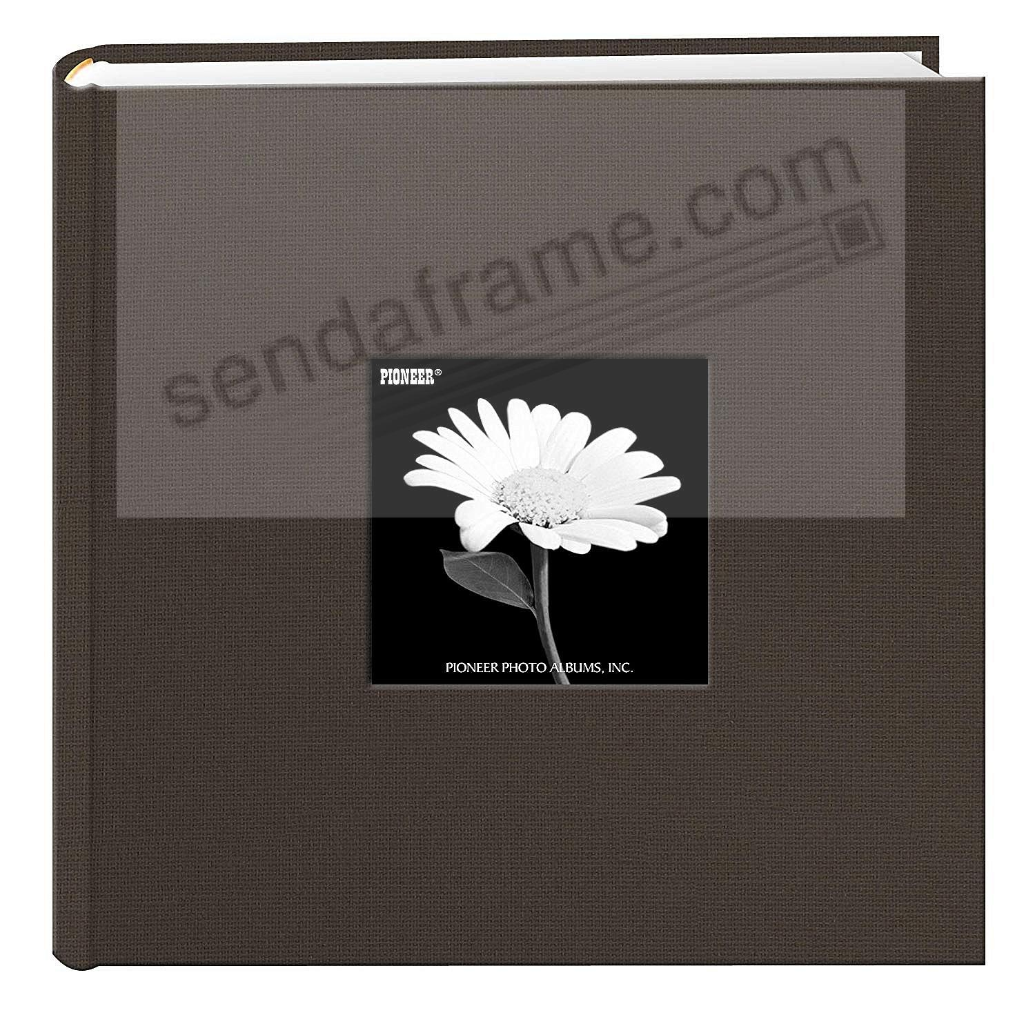 WARM MOCHA Cloth 2-up frame cover photo album by Pioneer®