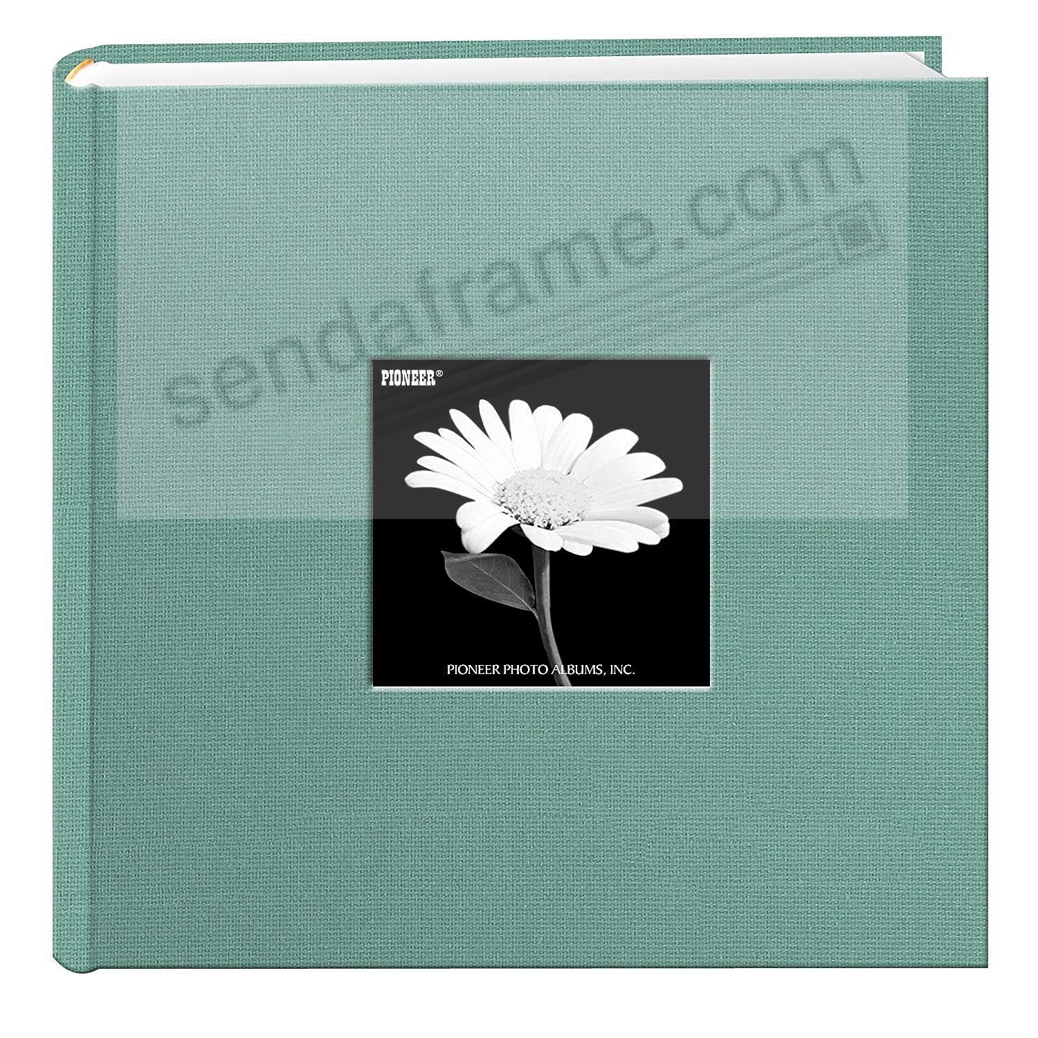 TRANQUIL AQUA Cloth 2-up frame cover photo album by Pioneer®