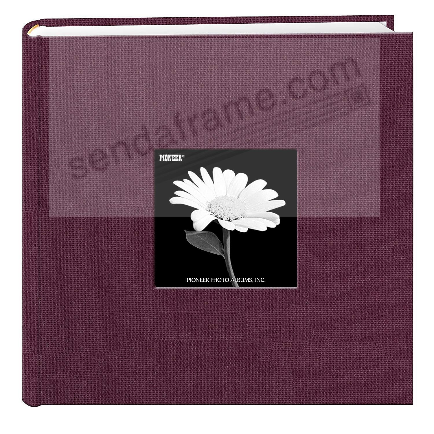 SWEET PLUM Cloth 2-up frame cover photo album by Pioneer®