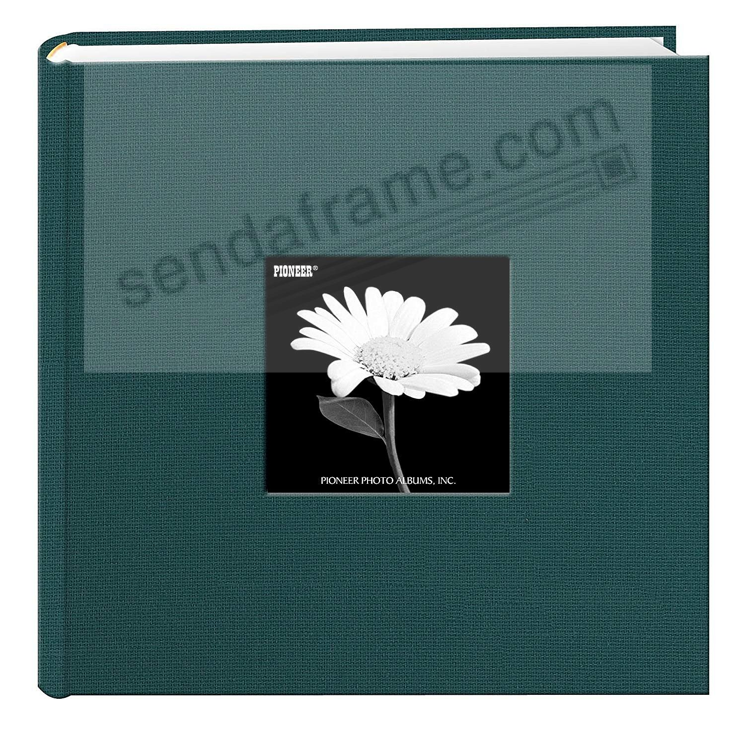 MAJESTIC TEAL Cloth 2-up frame cover photo album by Pioneer®