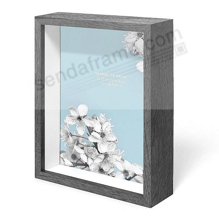 The Original CHROMA Shadowbox 1½in depth Charcoal-Grey 8x10 frame by Swing Design®
