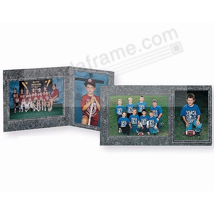 Team/Player 10x8/5x7 MEMORY MATES<br>Marbleized-Charcoal Cardstock double (sold in 10's)