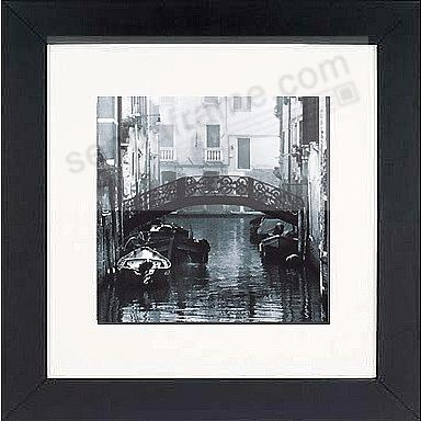 Matte-Black WOODBURY matted wood frame 10x10/5x5 from ARTCARE® by Nielsen®