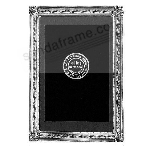 CURVES silvered Fine Pewter 5x7/4½x6½ frame by Elias Artmetal®
