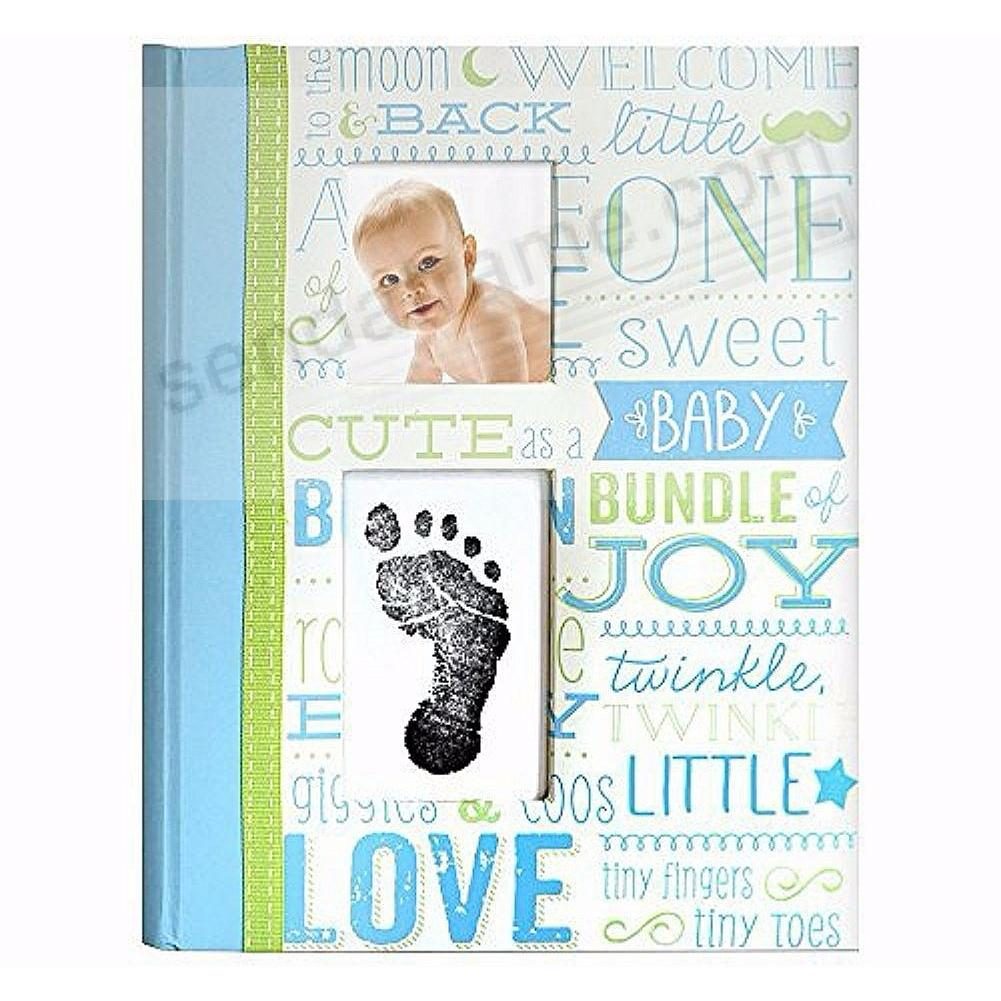 Little Blossoms VINTAGE BLUE MEMORY BOOK by Babyprints®