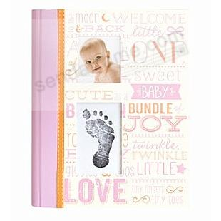 Little Blossoms VINTAGE PINK MEMORY BOOK by Babyprints®