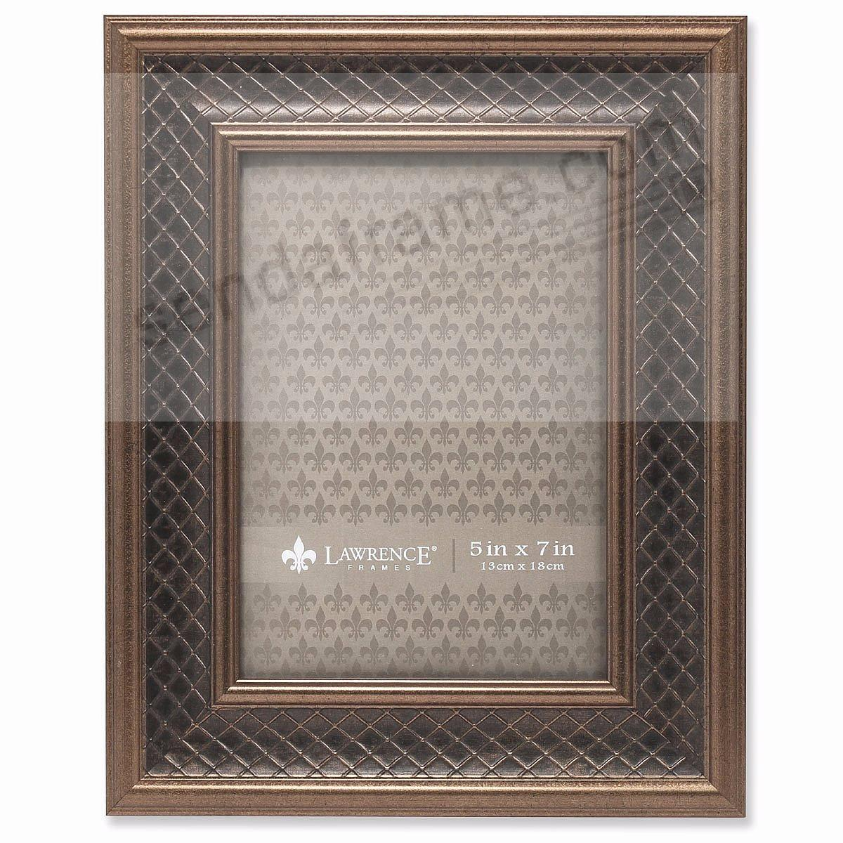 HABER BRONZE Lattice style 5x7 frame by Lawrence Frames®