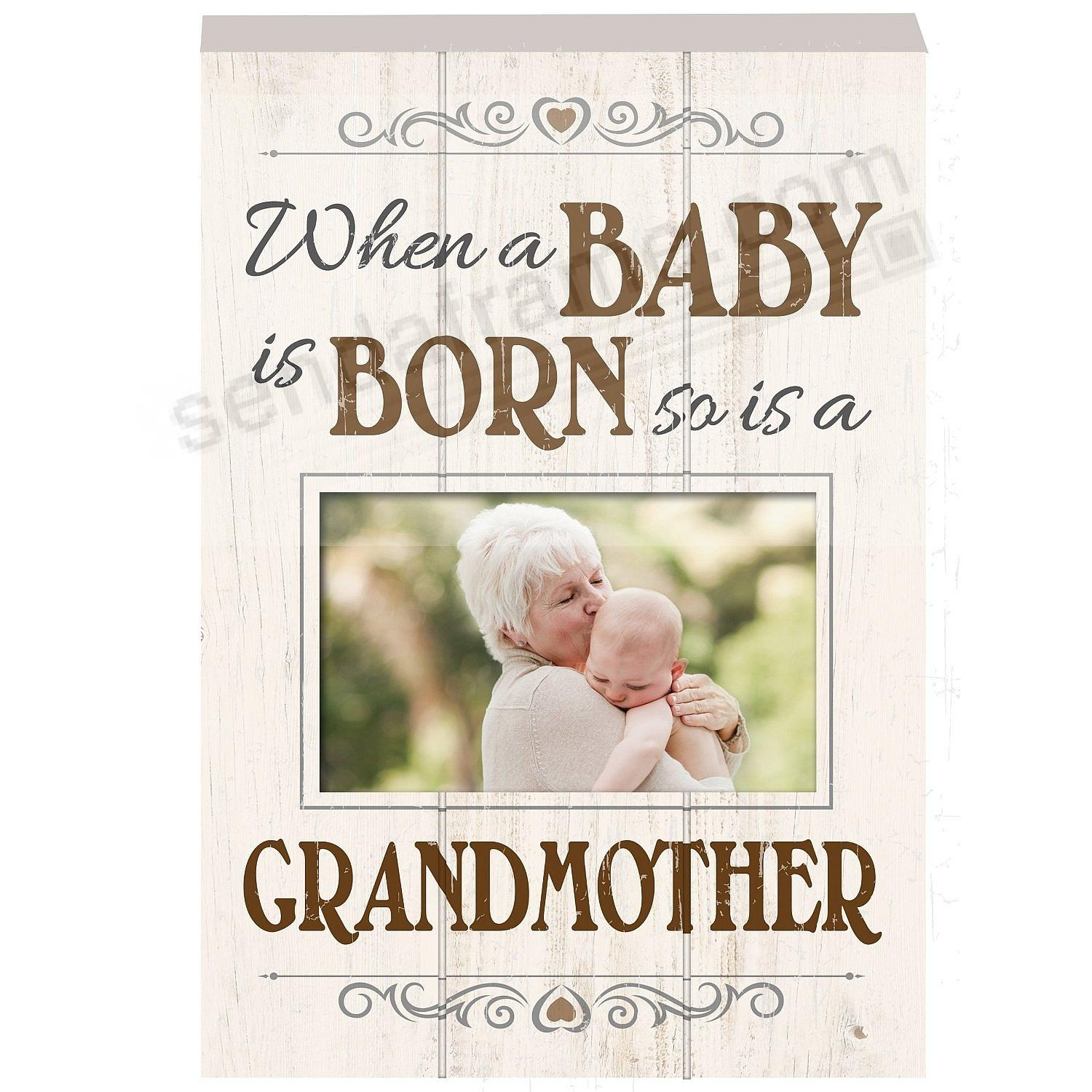 When a Baby is Born - so is a GRANDMOTHER Wood Block Frame by Prinz®