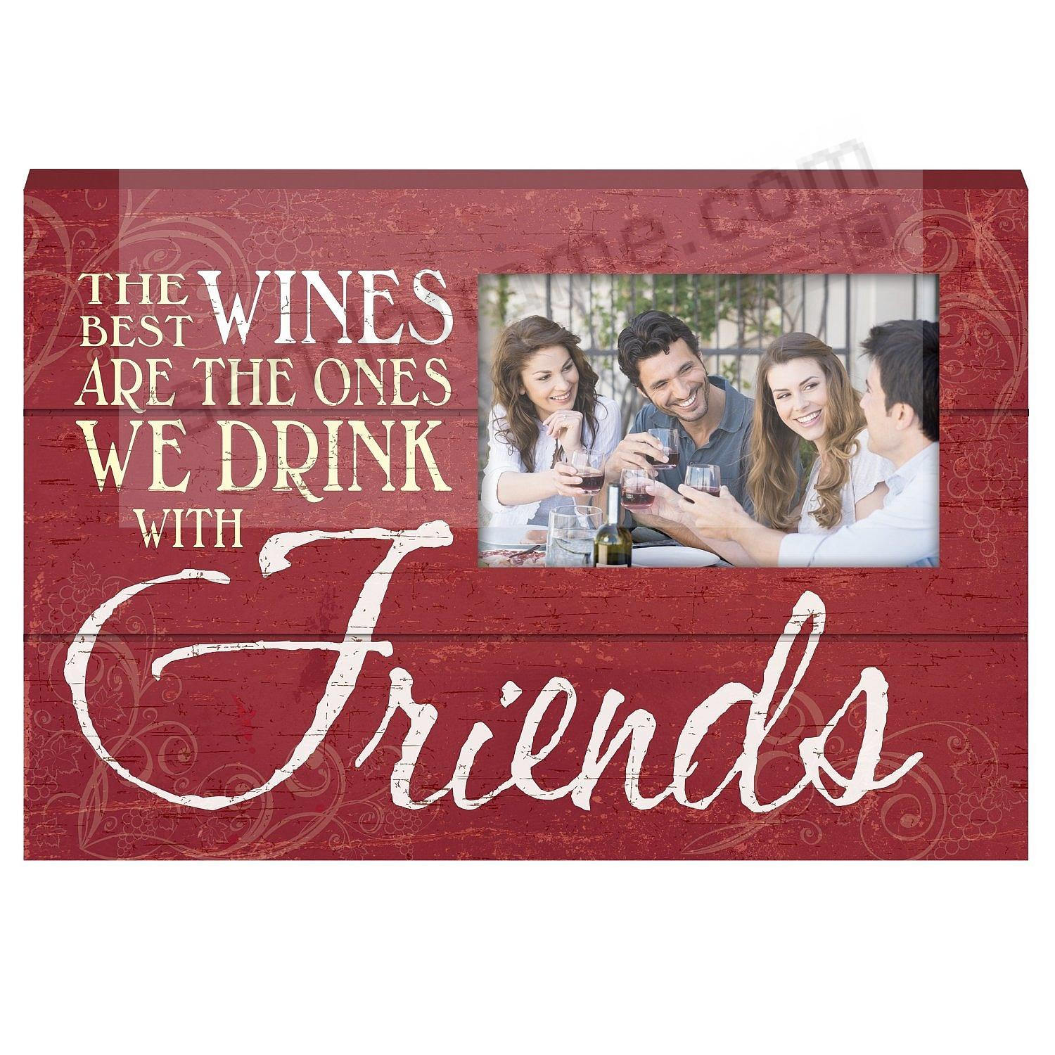DRINK WITH FRIENDS Wood Block Frame by Prinz®