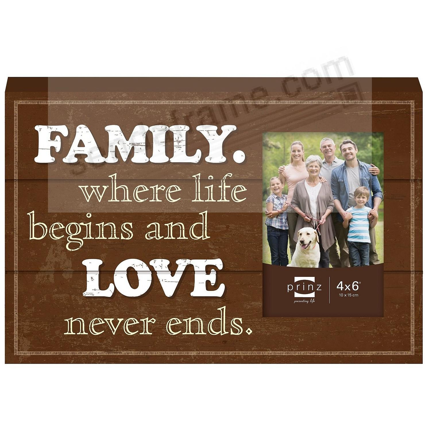 FAMILY Wood Block Frame by Prinz®