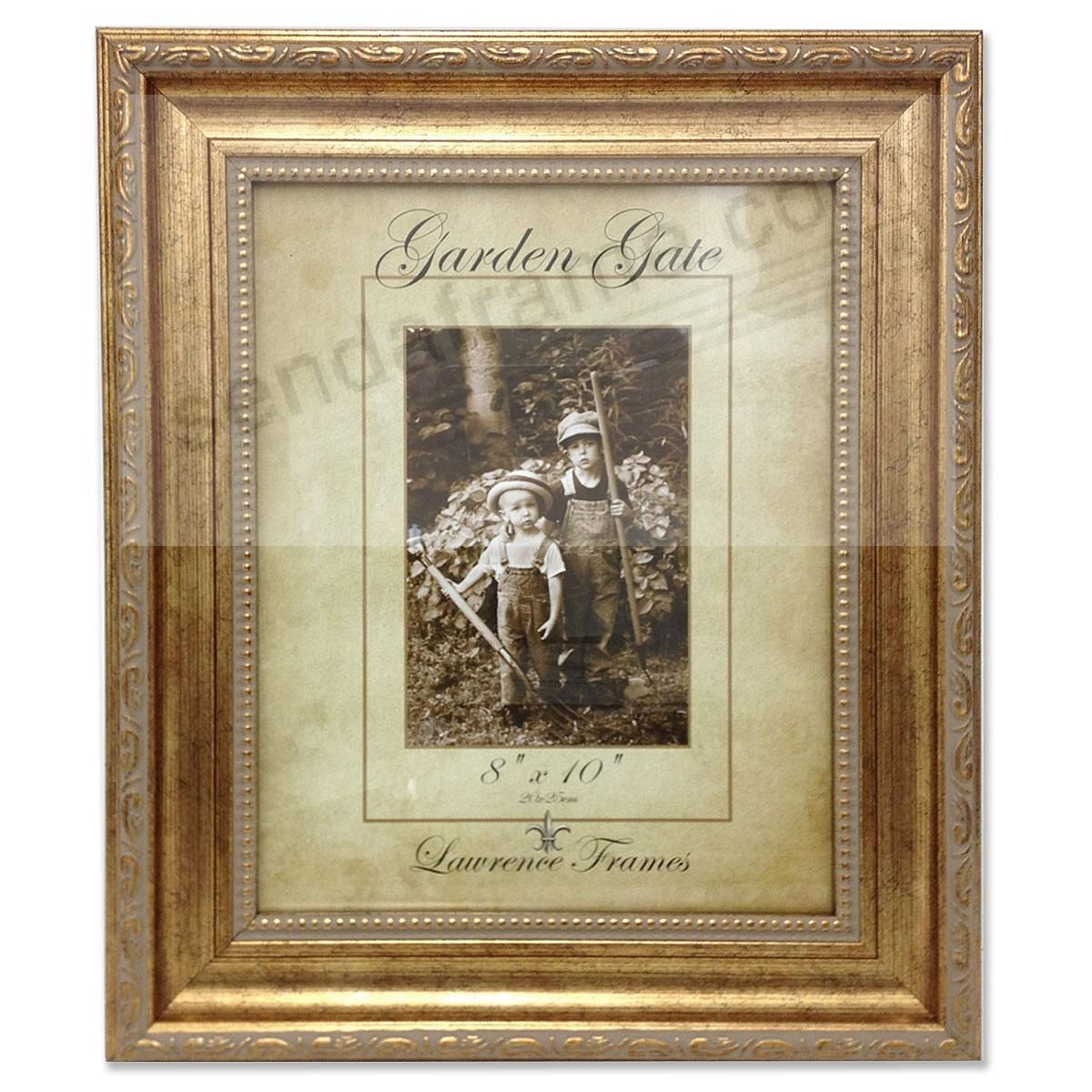 Burnished SORRENTO Gold Carved w/Inner Bead 8x10 by Lawrence Frames®