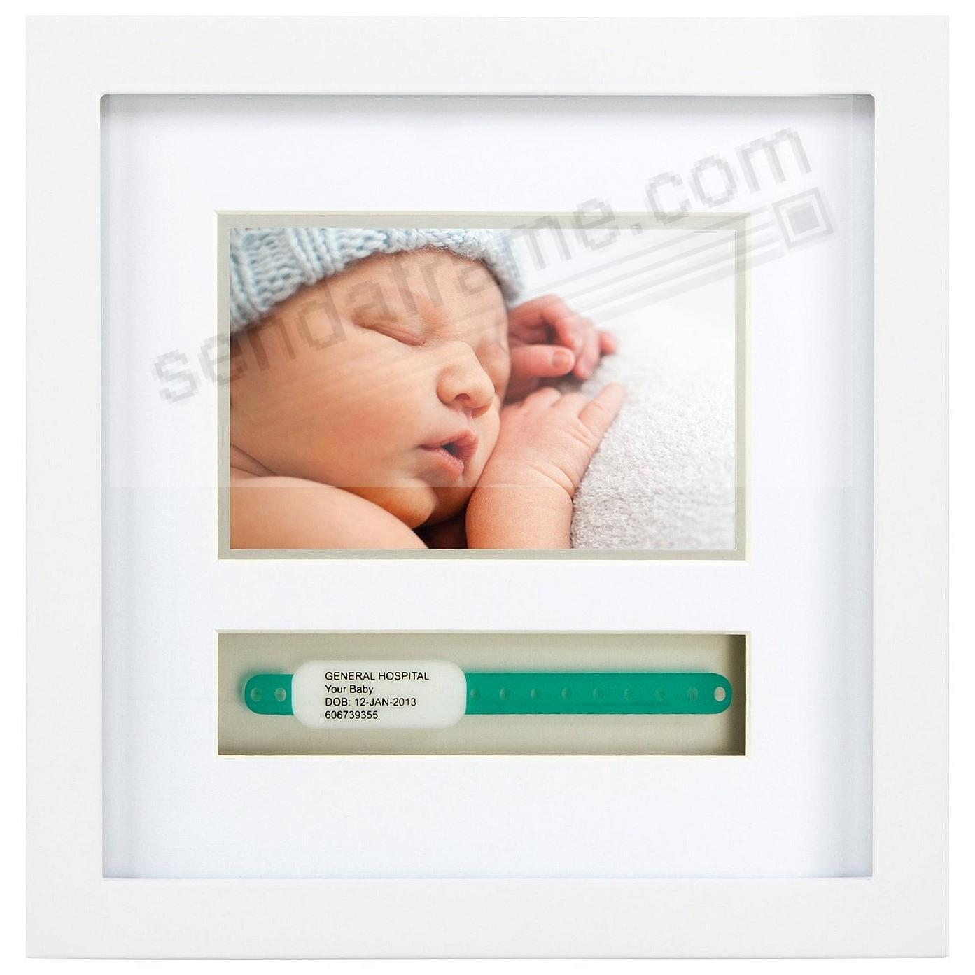 Babyprints® ID Bracelet (Large) White Wood Frame