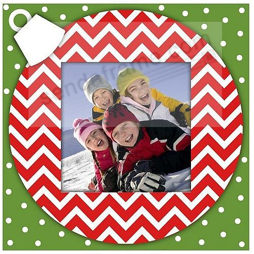 CHEVRON CHRISTMAS ORNAMENT 4x4 frame by Malden Design®