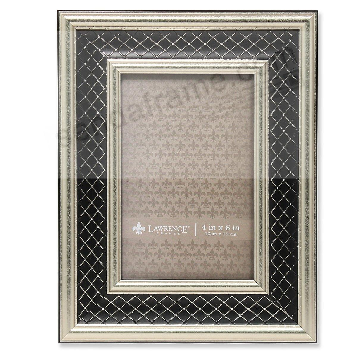SILVER and BLACK LATTICE style frame by Lawrence Frames®