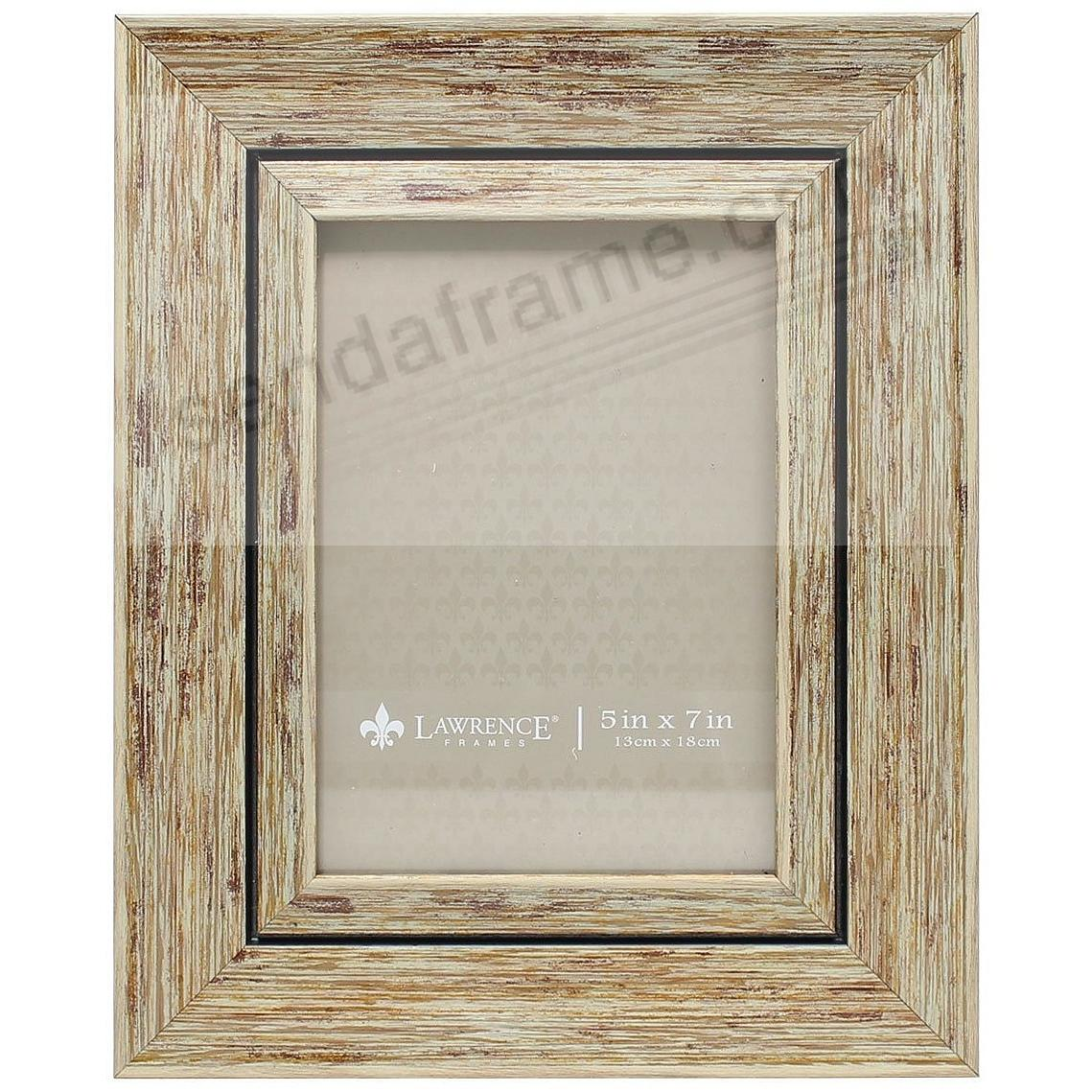 Weathered/Antique Natural Angled Wood 5x7 Frame by Lawrence®