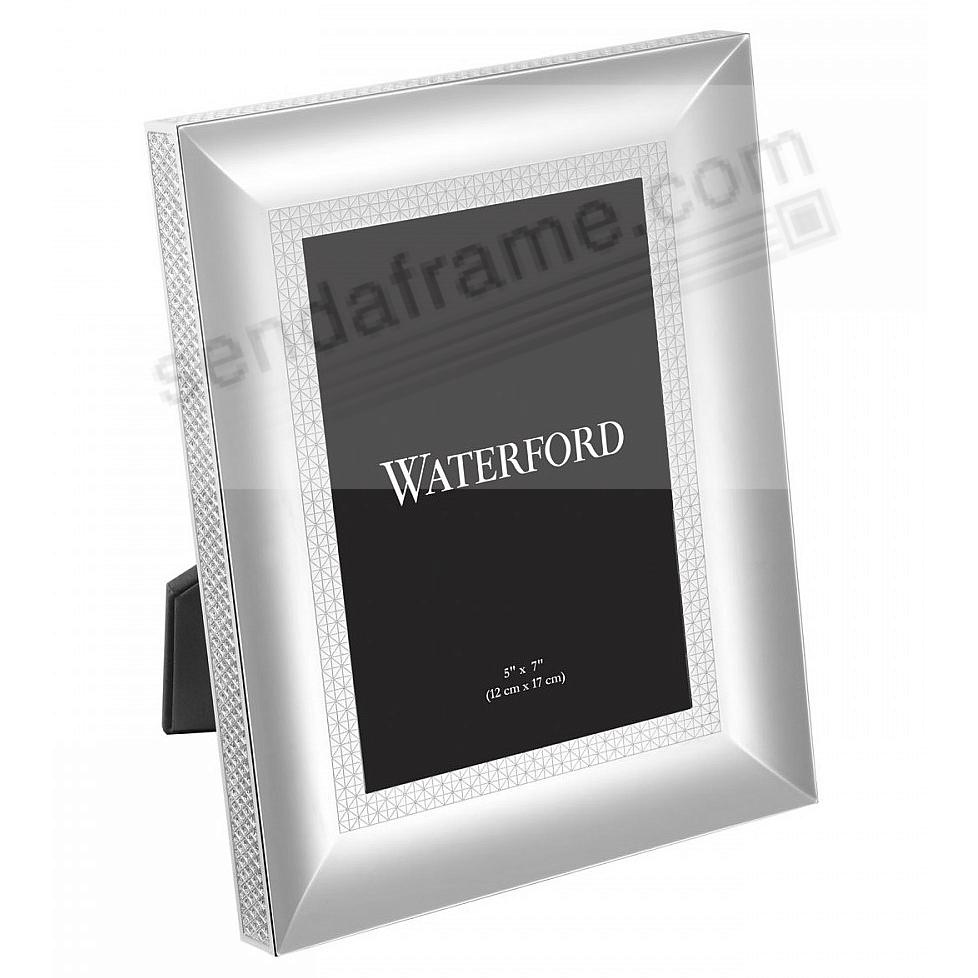 LISMORE DIAMOND patterned 5x7 silver frame by Waterford®