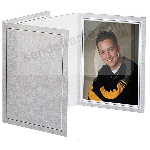 Printed Charcoal Cardstock Photo Folder Single 5x7 Vertical Frame