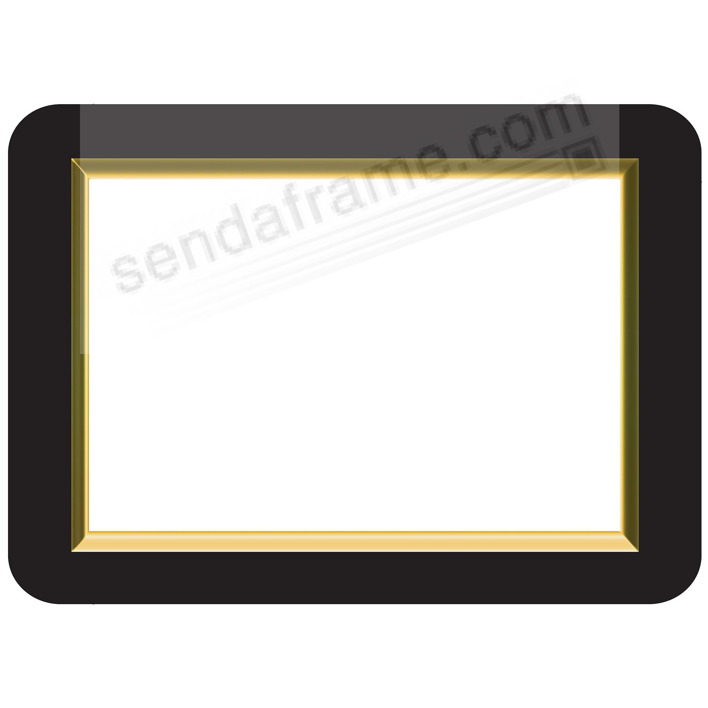 GOLD BEVELLED 8.5x11 Frame with Clear DRY ERASE™ by Fodeez™