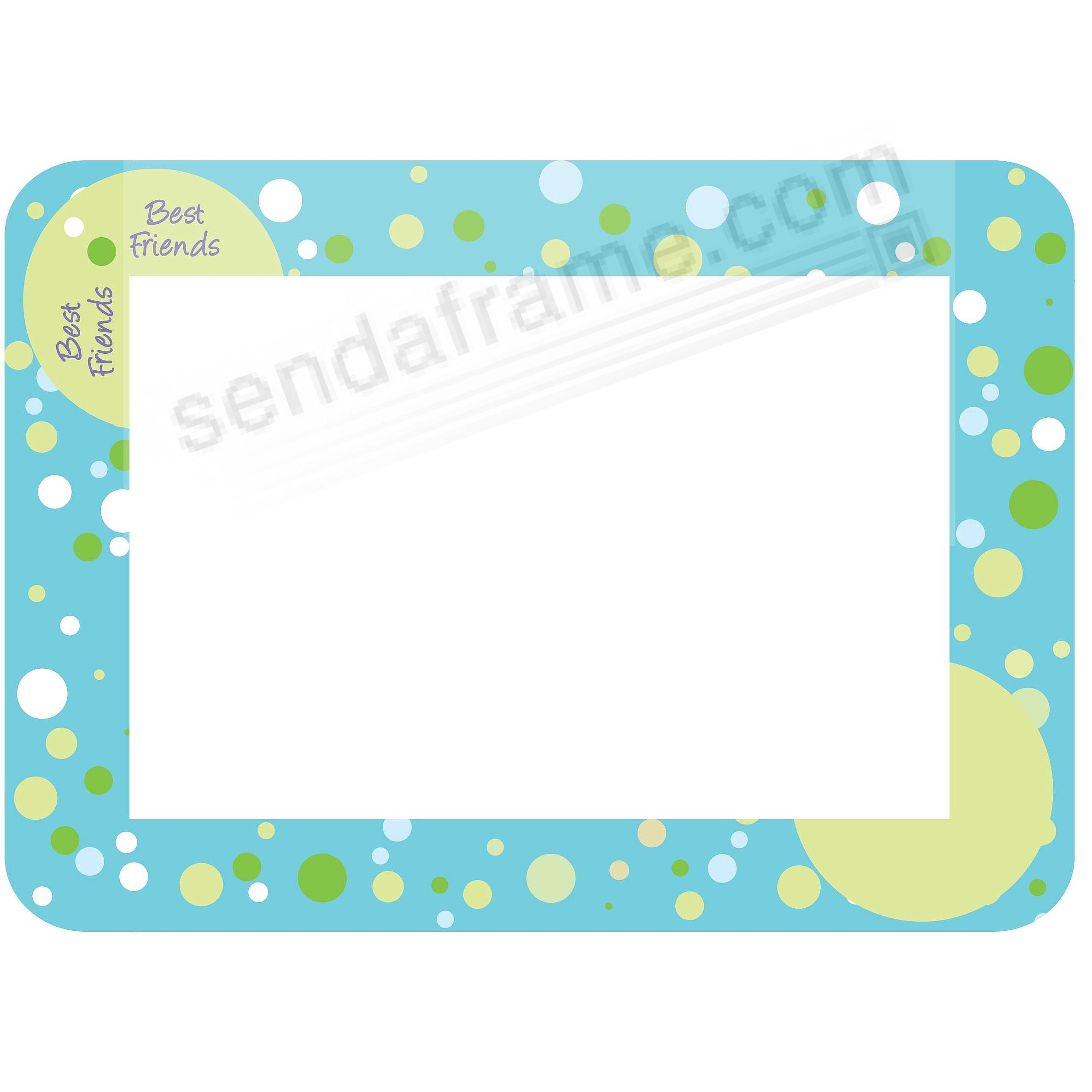 BEST FRIEND BLUE TRENDYKIDZ 5x7 Frame with Clear DRY ERASE™ by Fodeez™