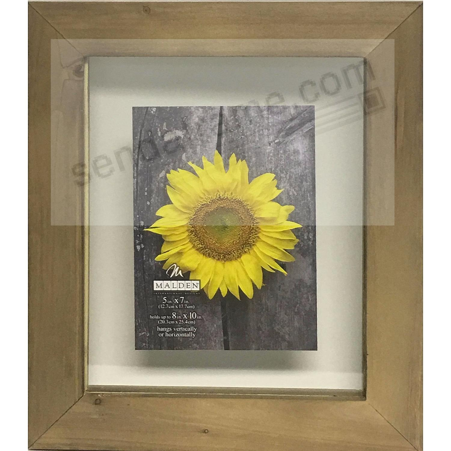 BARNWOOD DISTRESS FLOAT 8x10/5x7 frame by Malden®