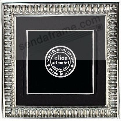 SPARTAN SHIELD fine pewter 5x5/4½x4½ frame by Elias Artmetal®