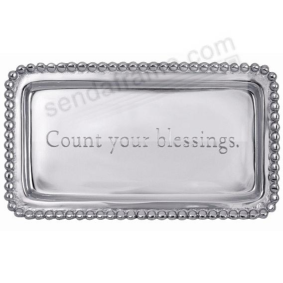 COUNT YOUR BLESSINGS 7in Statement Tray crafted by Mariposa®