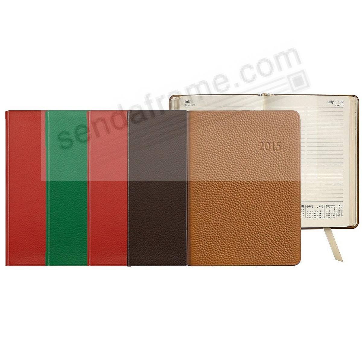 2015 ASSORTED COLORS Notebook Planner 7in or 9in Fine Leather by Graphic Image™