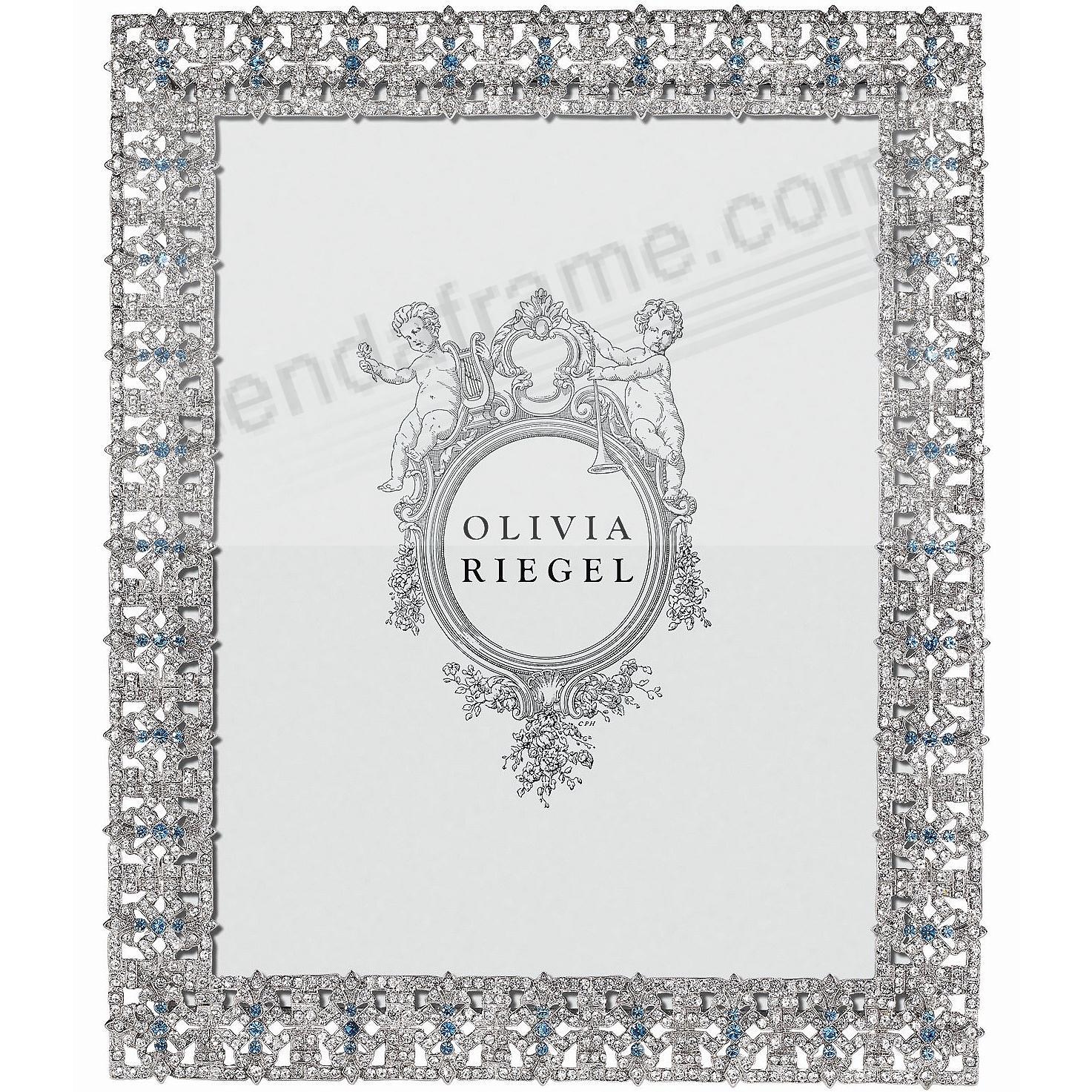 SILVER FONTAINE Austrian Crystal & Sapphire 8x10 frame by Olivia Riegel®