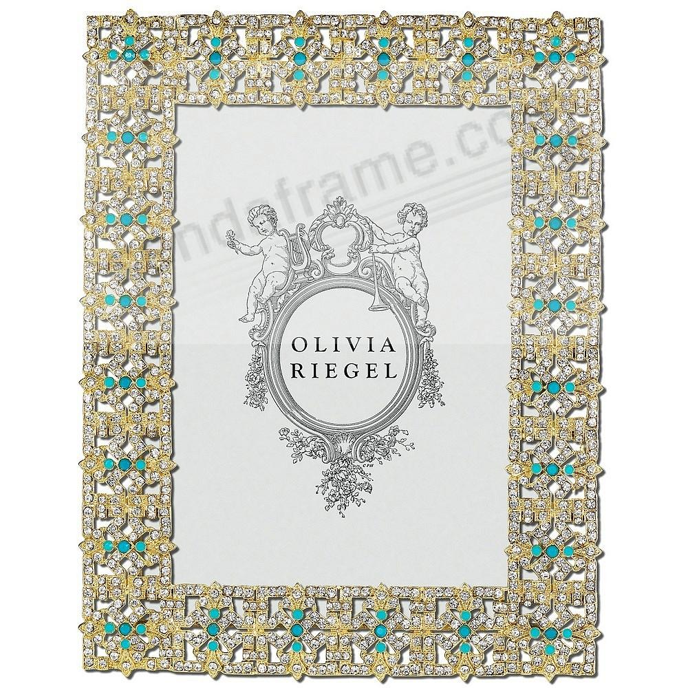 GOLD FONTAINE Austrian Crystal & Turquoise 5x7 frame by Olivia Riegel®