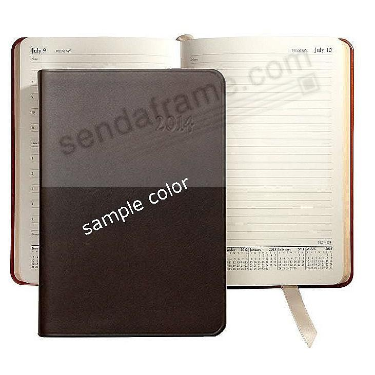 2014 ASSORTED COLORS Fine Leather 8'' Daily Journal by Graphic Image™