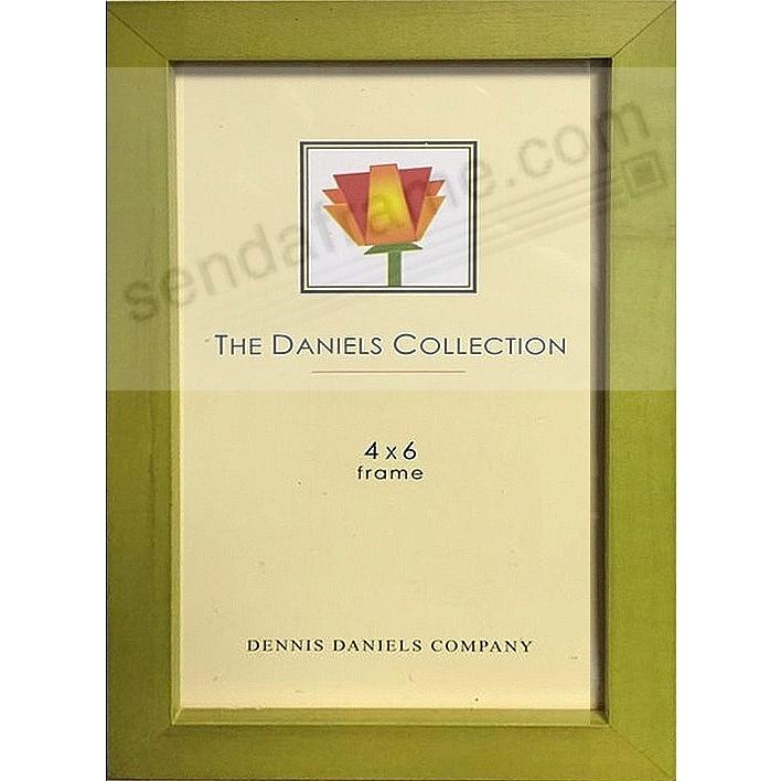 Bright Green-stained oak square-corner GALLERY WOODS 4x6 frame by Dennis Daniels®
