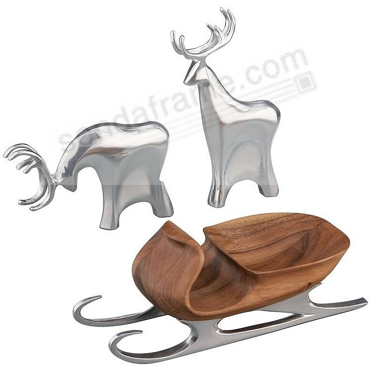 SLEIGH WITH REINDEER crafted by Nambe®